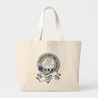 Inglis Clan Badge Canvas Bags