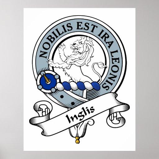Inglis Clan Badge Poster