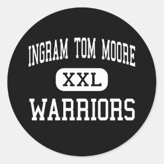 Ingram Tom Moore - Warriors - High - Ingram Texas Stickers