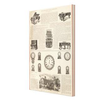 Ingrapham y Gamewell Company Lona Envuelta Para Galerías