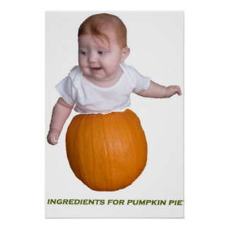 ingredents for pumpin pie poster
