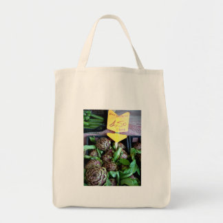 Ingredient driven cooking grocery tote bag