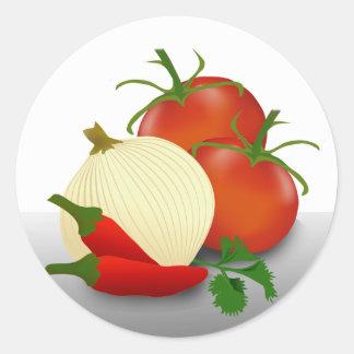 Ingredientes de la salsa que conservan la etiqueta