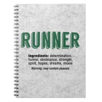 Ingredientes del corredor spiral notebooks