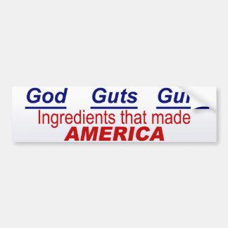 Ingredientes para América Pegatina Para Auto