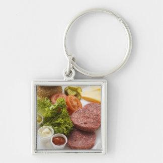 Ingredientes para los cheeseburgers llaveros