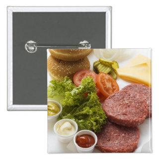 Ingredientes para los cheeseburgers pin