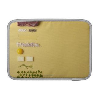 Ingredientes para tartare de filete en amarillo funda  MacBook
