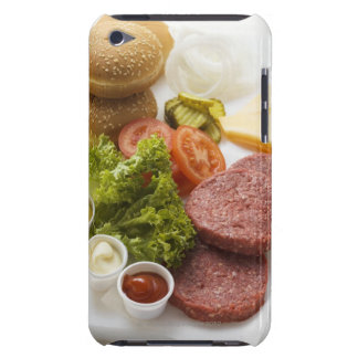 Ingredients for cheeseburgers iPod touch cases