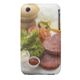 Ingredients for cheeseburgers Case-Mate iPhone 3 case