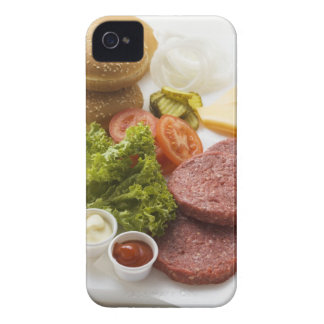 Ingredients for cheeseburgers iPhone 4 cover