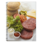 Ingredients for cheeseburgers note book