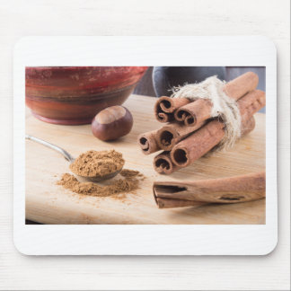 Ingredients for cooking in the kitchen mouse pad