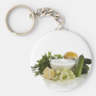 Ingredients for Cucumber Yogurt Soup Keychain
