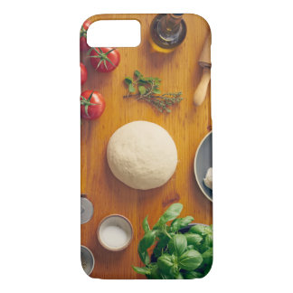 Ingredients for making pizza iPhone 8/7 case