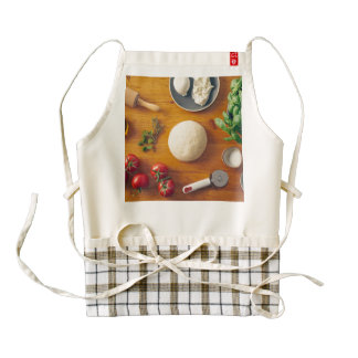 Ingredients for making pizza zazzle HEART apron