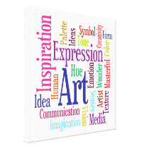 Ingredients of Art Colorful Artist's Word Cloud Canvas Print