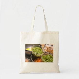 Ingredients of Veggie and Egg Food Tote Bag