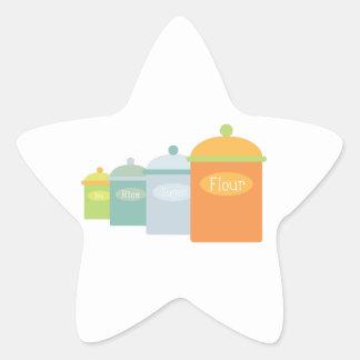Ingredients Star Sticker