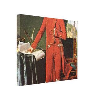 Ingres Dominique - Napoleon Bonaparte as Consul Gallery Wrapped Canvas