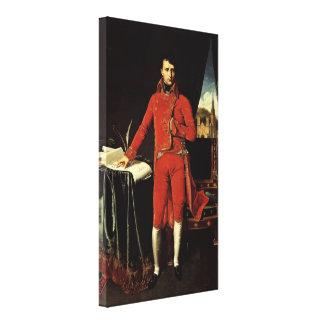 Ingres Dominique - Napoleon Bonaparte as Consul Stretched Canvas Print