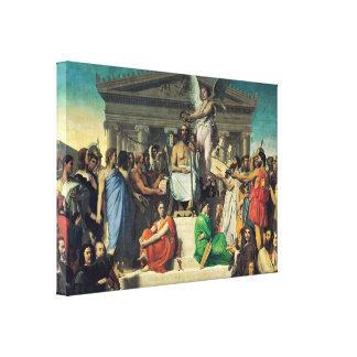 Ingres Jean Auguste - Apotheosis of Homer Canvas Prints