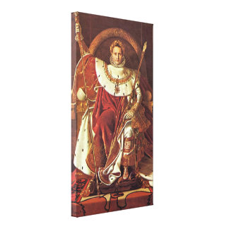 Ingres Jean Dominique - Portrait of Napoleon I Gallery Wrapped Canvas
