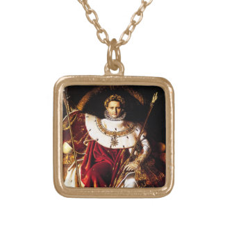 Ingres: Napoleon on the Imperial Throne, Square Pendant Necklace
