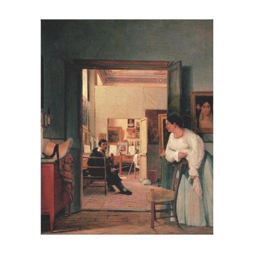 Ingres' Studio in Rome Canvas Print