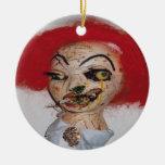 Ingrid Double-Sided Ceramic Round Christmas Ornament