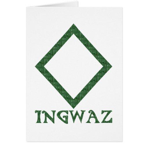 Ingwaz Greeting Card