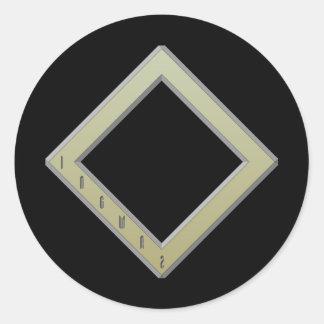Ingwaz Rune gold Classic Round Sticker