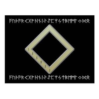 Ingwaz Rune gold Postcard