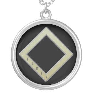 Ingwaz Rune gold Silver Plated Necklace