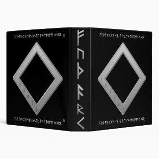 Ingwaz Rune grey 3 Ring Binder