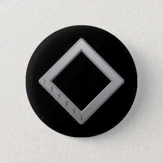 Ingwaz Rune grey Button