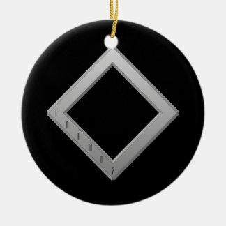 Ingwaz Rune grey Ceramic Ornament