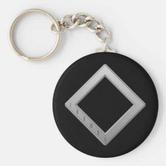 Ingwaz Rune grey Keychain