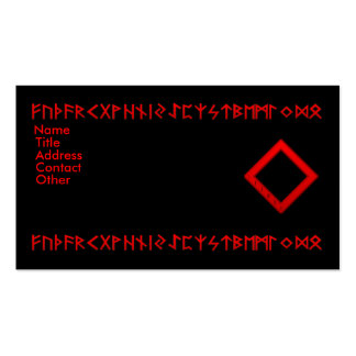 Ingwaz Rune red Business Cards
