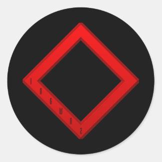 Ingwaz Rune red Classic Round Sticker
