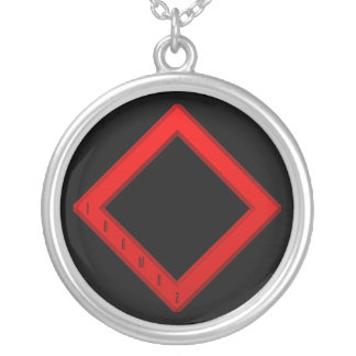 Ingwaz Rune red Silver Plated Necklace