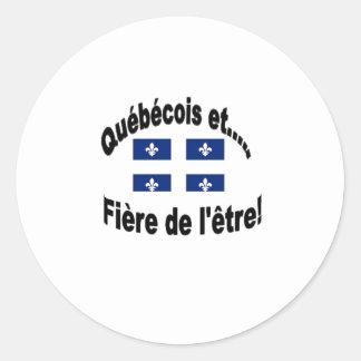 Inhabitant of Quebec Classic Round Sticker