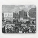 Inhabitants moving from the Butte des Moulins Mouse Pad