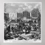 Inhabitants moving from the Butte des Moulins Poster