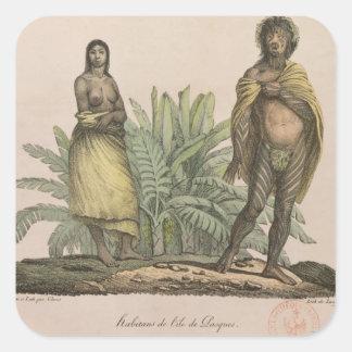 Inhabitants of Easter Island Square Sticker