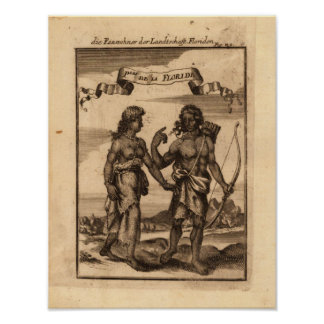 Inhabitants of Florida Mallet Allain Manesson 1686 Posters