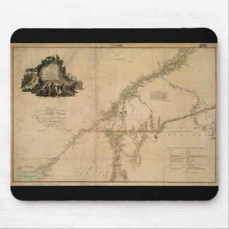 Inhabited Portion of Canada in 1777 Map Mouse Pad