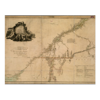 Inhabited Portion of Canada in 1777 Map Postcard