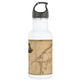 Inhabited Portion of Canada in 1777 Map Stainless Steel Water Bottle