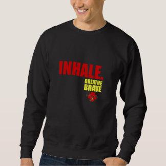 Inhale Breathe Brave - Survivor Jewelry Sweatshirt